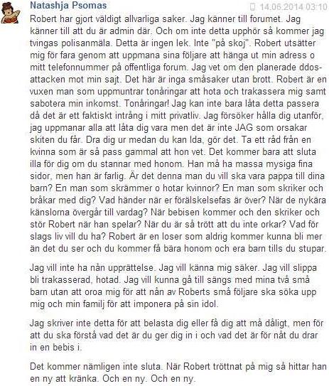 Robert Hermansson har gjort allvarliga saker